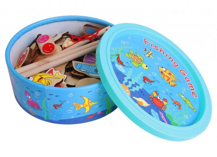 Gra Łowienie rybek w pudełku Top Bright 64 elementy