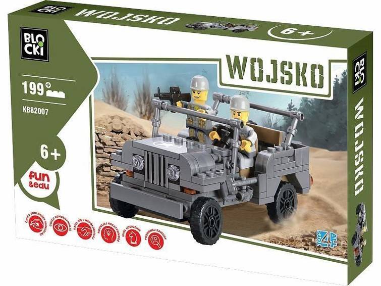 Klocki Blocki Wojsko Jeep Zabawki Klocki Plastikowe