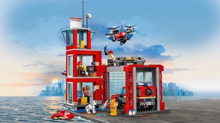 Klocki City 60215 Remiza Strażacka Zabawki Lego Klocki Zabawki