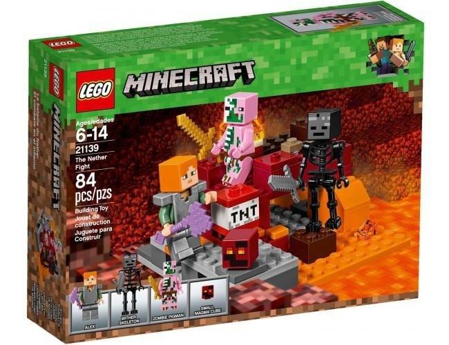 1cfe6f386 LEGO Minecraft 21139 Walka w Netherze | ZABAWKI \ Klocki LEGO ...