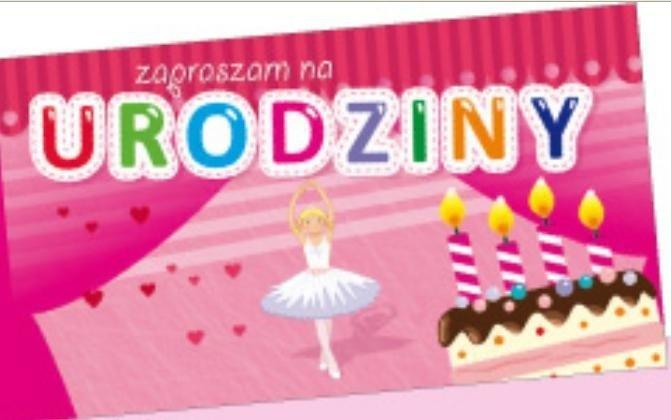 Zaproszenie Urodzinowe Baletnica 5szt Avanti Papiernicze